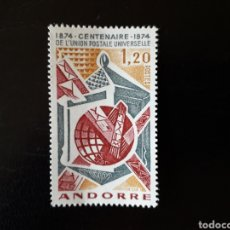 Timbres: ANDORRA FRANCESA. YVERT 242 SERIE COMPLETA NUEVA SIN CHARNELA. CENTENARIO DE LA UPU.. Lote 168298656