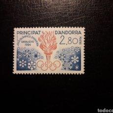 Sellos: ANDORRA FRANCESA. YVERT 327 SERIE COMPLETA NUEVA SIN CHARNELA. DEPORTES. OLIMPIADA SARAJEVO 84. Lote 168318188