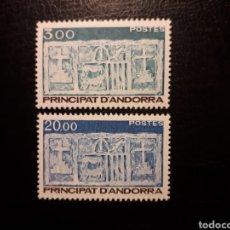 Sellos: ANDORRA FRANCESA. YVERT 335/6 SERIE COMPLETA NUEVA SIN CHARNELA. ESCUDOS.. Lote 168318430