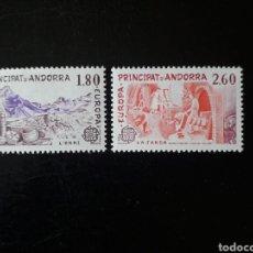 Sellos: ANDORRA FRANCESA. YVERT 313/4 SERIE COMPLETA NUEVA SIN CHARNELA. EUROPA CEPT.. Lote 168362881