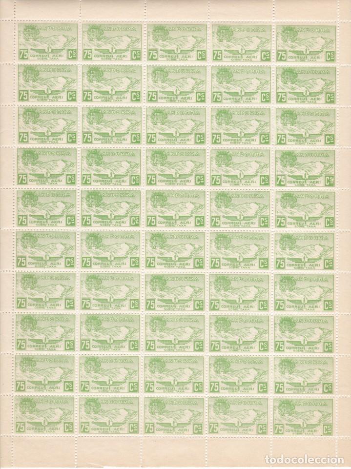 HOJA COMPLETA DE 50 SELLOS DE ANDORRA DEL AÑO 1932 NE15 EN PERFECTO ESTADO DE CONSERVACION (Sellos - Extranjero - Europa - Andorra)