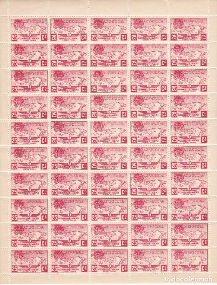 HOJA COMPLETA DE 50 SELLOS DE ANDORRA DEL AÑO 1932 NE13 EN PERFECTO ESTADO DE CONSERVACION (Sellos - Extranjero - Europa - Andorra)