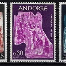 Sellos: 1967 ANDORRA FRANCESA YVERT 184/186 EDIFIL 204/206 - MNH** NUEVOS SIN FIJASELLOS - FRESCOS. Lote 170351116