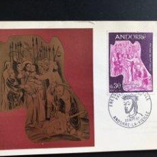 Sellos: TARJETA PRIMER DIA ANDORRA FRANCESA 1967. Lote 170500330