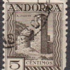 Sellos: ANDORRA - UN SELLO - IVERT:#AD-ES-29 - ***SANT JOAN DE CASELLES*** - AÑO 1936 - USADO. Lote 175852144