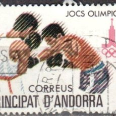 Sellos: ANDORRA - UN SELLO - IVERT:#AD-ES-127 - ***JUEGOS OLIMPICOS DE MOSCU - AÑO 1980 - USADO. Lote 175852664