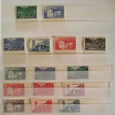 Sellos: SELLOS ANDORRE 1944/46 20 VALORES NUEVOS SIN SEÑAL DE FIJASELLOS BORDE DE HOJA. Lote 177958440