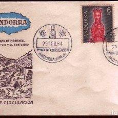 Sellos: GIROEXLIBRIS. ANDORRA ESPAÑOLA 1963-64 TURISMO EN SOBRE DE PRIMER DÍA. Lote 179396378