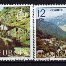 Sellos: GIROEXLIBRIS. ANDORRA ESPAÑOLA.- 1977 EUROPA CEPT YVERT Nº 100/01** SELLOS NUEVOS. Lote 179539392