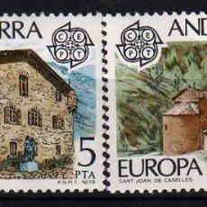 Sellos: GIROEXLIBRIS. ANDORRA ESPAÑOLA.- 1978 TEMA EUROPA CEPT YVERT Nº 108/09** . Lote 179540525