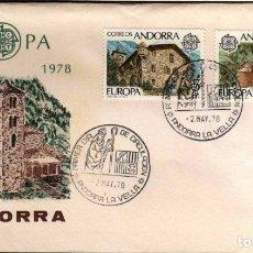 Sellos: GIROEXLIBRIS. ANDORRA ESPAÑOLA.- 1978 TEMA EUROPA CEPT YVERT Nº 108/09 SOBRE. Lote 179540992