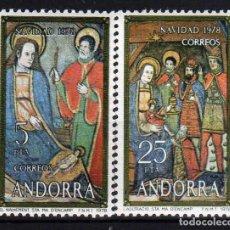 Sellos: GIROEXLIBRIS. ANDORRA ESPAÑOLA.- 1978 NAVIDAD YVERT Nº 111/112** . Lote 179541617