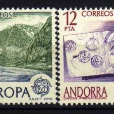 Sellos: GIROEXLIBRIS. ANDORRA ESPAÑOLA.- 1979 TEMA EUROPA CEPT YVERT Nº 116/117** . Lote 179543317