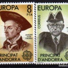 Sellos: GIROEXLIBRIS. ANDORRA ESPAÑOLA.- 1980 TEMA EUROPA CEPT YVERT Nº 124/125** . Lote 179543483