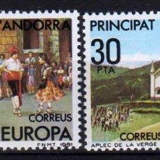 Sellos: GIROEXLIBRIS. ANDORRA ESPAÑOLA.- 1981 TEMA EUROPA CEPT YVERT Nº 131/132**. Lote 179544068