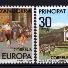 Sellos: GIROEXLIBRIS. ANDORRA ESPAÑOLA.- 1981 TEMA EUROPA CEPT YVERT Nº 131/132**. Lote 179544121