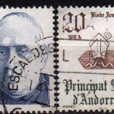Sellos: GIROEXLIBRIS. ANDORRA ESPAÑOLA.- 1981 COPRINCIPES DE ANDORRA YVERT Nº 135/136 SELLOS USADOS. Lote 179544403