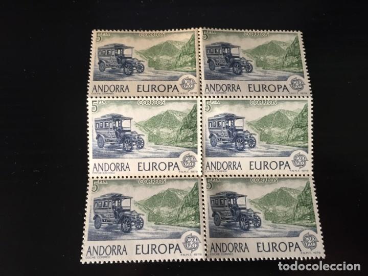 SELLOS ANDORRA AÑO 1979 BLOQUE DE 6 SELLOS LOS DE LA FOTO NUEVOS VER TODOS MIS SELLOS (Sellos - Extranjero - Europa - Andorra)