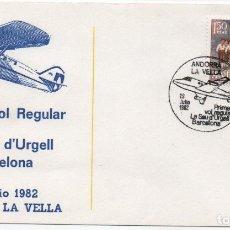 Sellos: SOBRE ILUSTRADO PRIMER VUELO REGULAR LA SEU D'URGELL BARCELONA. Lote 183406817