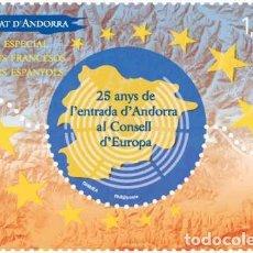 Sellos: FRENCH ANDORRA 2019 - 25 ANYS DE L'ENTRADA D'ANDORRA AL CONSELLD'EUROPA MNH. Lote 183737968