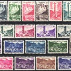 Sellos: ANDORRA FRANCESA, 1955 - 58 YVERT Nº 138 / 153 /*/ . Lote 184120971