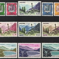Sellos: ANDORRA FRANCESA, 1961 YVERT Nº 154 / 164 /*/ ( 11 VALORES ). Lote 184121763