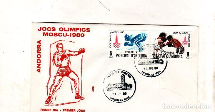 SOBRE PRIMER DIA. ANDORRA. JOCS OLIMPICS. MOSCU- 1980. VER FOTO. (Sellos - Extranjero - Europa - Andorra)