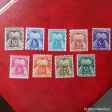 Sellos: ANDORRA,1946-50,EDIFIL 32-40,TASAS,SERIE NO COMPLETA,NUEVOS SIN FIJASELLO, SALVO EDIFIL 40 CON FIJAS. Lote 25999810
