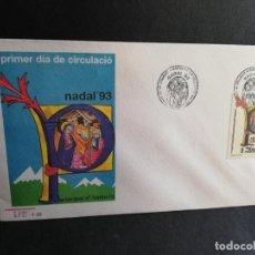 Sellos: SOBRE PRIMER DIA. ANDORRA. NADAL´93. 1993.. Lote 186128665