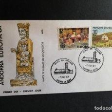 Sellos: SOBRE PRIMER DIA. EUROPA. ANDORRA. IMATGE DE LA MADRE´DEU DE CANOUCH. 1981.. Lote 186135223