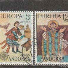 Sellos: ANDORRA ESPAÑOLA 1975 - EDIFIL NRO. 97-98 - USADOS. Lote 254043720