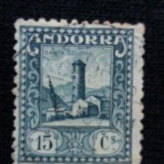 Sellos: ANDORRA ESPAÑA, 15 CS, TORRE COLOMA, 1950, NUEVO. Lote 196533498
