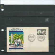 Sellos: SOBRE DE PRIMER DIA DE ANDORRA FRANCESA DE LA EXPO FILATELICA INTERNACIONAL PHILATEC 1964. Lote 198136016