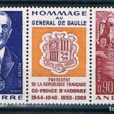 Sellos: ANDORRE 1972** HOMENAJE AL GENERAL DE GAULLE. Lote 199166830