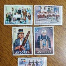 Sellos: ANDORRA N°80/84 MNH (FOTOGRAFÍA REAL). Lote 199411025
