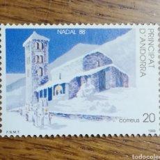 Sellos: ANDORRA N°208 MNH, NAVIDAD 1988 (FOTOGRAFÍA REAL). Lote 222195457