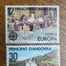 Sellos: ANDORRA N°140/41MNH EUROPA 1981 (FOTOGRAFÍA REAL). Lote 199421831