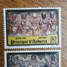 Sellos: ANDORRA N°144/45 MNH, NAVIDAD 1981 (FOTOGRAFÍA REAL). Lote 199422197