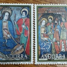 Sellos: ANDORRA N°120/21 NAVIDAD 1978 (FOTOGRAFÍA REAL). Lote 220061488