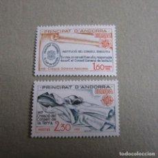 Sellos: ANDORRA 1982, FILABO Nº 300/301**, TEMATICA EUROPA. Lote 199496487