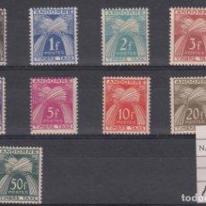 Sellos: ANDORRE - ANDORRA FRANCESA - TIMBRE TAXE T 32-40 NUEVOS SIN SEÑAL FIJASELLOS - FALTA EL 41. Lote 199613502