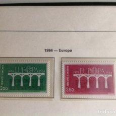 Sellos: 1984 SELLOS DE ANDORRA FRANCESA. NUEVOS. EDIFIL NUM.350/351 EUROPA. Lote 202450058