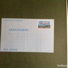 Sellos: AEROGRAMA DE ANDORRA FRANCESA. Lote 202543015