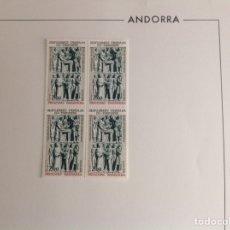 Sellos: 1979 ANDORRA FRANCESA MONUMENTO A COPRINCIPES BLOQ DE CUATRO. Lote 203277908