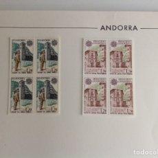 Sellos: 1979 ANDORRA FRANCESA. EUROPA. BLOQUE DE CUATRO. Lote 203278171