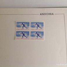 Sellos: 1979 ANDORRA FRANCESA NUEVOS OLIMP.INVIERNO BLOQUE DE CUATRO. Lote 203278713