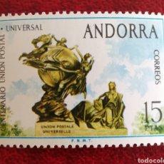 Sellos: ANDORRA ESPAÑOLA, N°93 U.P.U MNH**. (FOTOGRAFÍA REAL). Lote 273398513