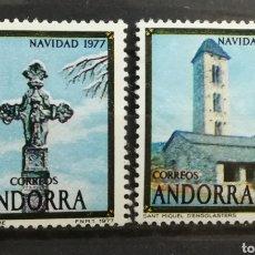 Sellos: ANDORRA ESPAÑOLA, NAVIDAD 1977 MH (FOTOGRAFÍA REAL). Lote 205195871
