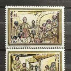 Sellos: ANDORRA ESPAÑOLA, NAVIDAD 1976 MH (FOTOGRAFÍA REAL). Lote 205196357