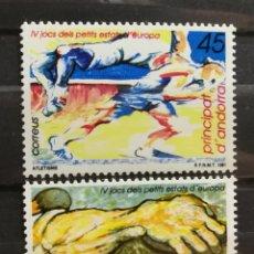 Sellos: ANDORRA ESPAÑOLA, IV JUEGOS PEQUEÑOS ESTADOS 1991 MNH (FOTOGRAFÍA REAL). Lote 205196728